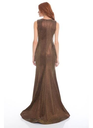 Pierre Cardin Uzun Abiye Elbise Bakır